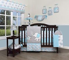 GEENNY Boutique Baby 13 Piece Nursery Crib Bedding Set Blizzard Blue Grey. & Baby Crib Tent Safety Net Pop Up Canopy Cover - Never Recalled ...