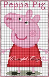"My creations room: ""Peppa Pig"" Jumper Knitting Pattern, Knitting Charts, Knitting Patterns Free, Peppa Pig, Cross Stitch Designs, Cross Stitch Patterns, Cross Stitching, Cross Stitch Embroidery, Pinterest Cross Stitch"