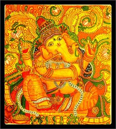 1000 images about kerala mural on pinterest kerala for Mural art of ganesha