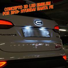 CONCEPTO LOGO LED EMBLEM BADGE SET FRONT /REAR SET for 2013+ HYUNDAI SANTA FE #HyundaiMobis