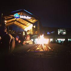 Open fire at the Mount Buller snow ski resort in Victoria, Australia #snowaus