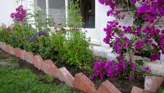 Recycled Brick Garden Edge