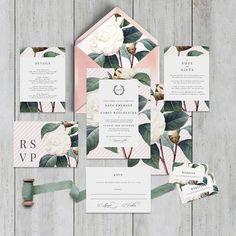 "Printable Wedding Invitation Suite ""Rembrandt Pink"" - Printable DIY Invite, Affordable Wedding Invitation"
