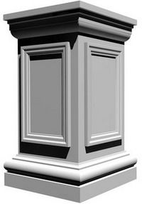 Architectural Structural Columns for Home and Garden - Square Columns Exterior Wall Design, Roof Design, Facade Design, Ceiling Design, Design Art, Classic House Exterior, Classic House Design, House Front Design, House Pillars