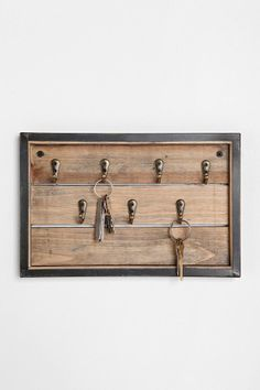 Reclaimed Wood Key Hook  #UrbanOutfitters
