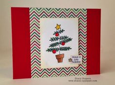 "Stacy's Cards: Christmas Card featuring ""Jingle Christmas Tree"" digital stamp set from Pickled Potpourri Designs www.PickledPotpourri.com #digi #digistamp #pickledpotpourri"