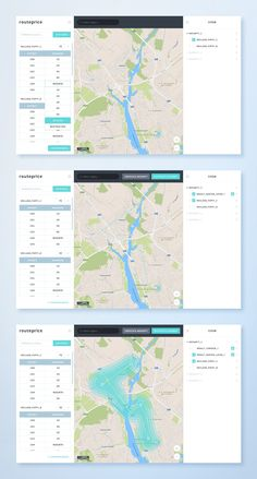 Routeprice Map Dashboard UI #UIDesign