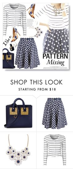 """""""Pattern Mix Master"""" by sarah-crotty ❤ liked on Polyvore featuring Sophie Hulme, Closet, Glamorous, Vince Camuto and patternmixing"""