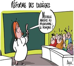 Mon dessin dans le @Courrier_picard du 12.03.2015 : #reformecollege du nouveau !