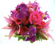 bright pink and purple bouquet