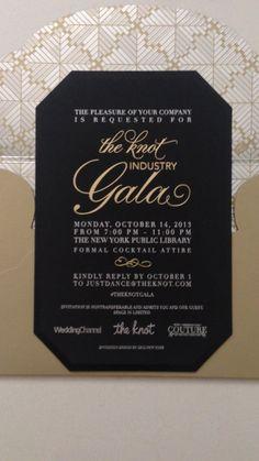 Ceci New York Invitation Reveal; The Knot Industry Gala Invitations by Ceci New York