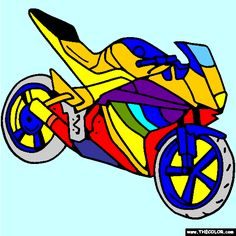 yamaha sportbike motorcycle online coloring page