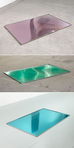 "lafilleblanc: "" Steve Bishop ""Performance Anxiety"", 2011 trays of mouthwash "" Fluxus, Exhibition Display, Art Design, Light Art, Installation Art, Sculpture Art, Contemporary Art, Art Photography, Mouthwash"