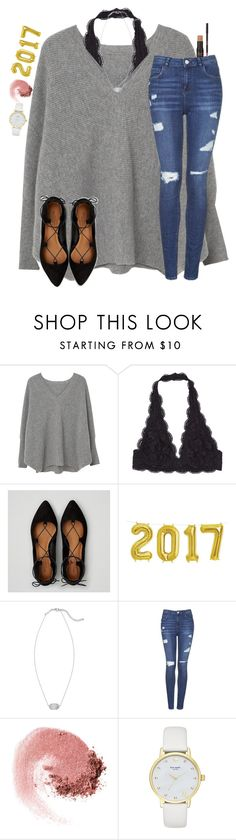 """Happy 2017 !!!!!!!"" by christyaphan ❤ liked on Polyvore featuring MANGO, American Eagle Outfitters, Kendra Scott, Topshop, NARS Cosmetics and Kate Spade"
