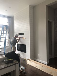 Installing a Fireplace + Our New Samsung Frame TV - The Blooming Nest Home Fireplace, Framed Tv, Home, Installing A Fireplace, New Homes, House, Living Room Remodel, Fireplace Remodel, Fireplace Built Ins