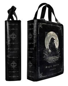 Crows Ravens: #Raven ~ Book of Magic Spells Handbag.