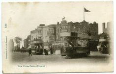 New-Cross-Gate-Trams-Lewisham-London-c.1904. London Postcard, London Transport, My Ancestors, Vintage London, Modern History, Prehistory, East London, Family History, Gate