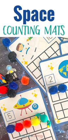 These space counting mats are a great way for early learners to work on their counting skills. Working on numbers 1-20 with a fun space them is great for preschoolers.