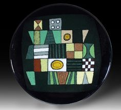 Ellamarie & Jackson Woolley  Plate #4126, 1950s  Enamel on copper  7/8 x 8 1/4 in.