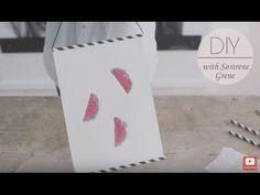 DIY: Straw photo frame by Søstrene Grene - YouTube
