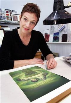 Artist Mary GrandPre, 51, of Sarasota, Fla., draws Harry Potter for the cover of each blockbuster book, as well as the illustrations that come at the start of each chapter. She's drawn him from a boy of 11 in book one to age 16 in book six.