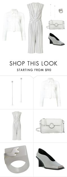 """""""Outfit-only Look 12"""" by asuitcaseheart ❤ liked on Polyvore featuring Anne Sisteron, Misha Nonoo, Miss Selfridge, Rebecca Minkoff, NOVICA, STELLA McCARTNEY, white, blackandwhite, jumpsuit and outfitonly"""