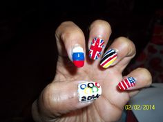 Olympic nails 2014