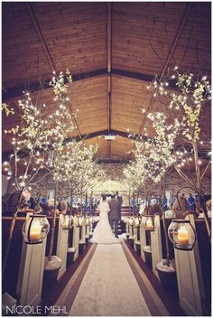 aisle trees blue/yellow/wedding #WalkerPorterfieldWedding