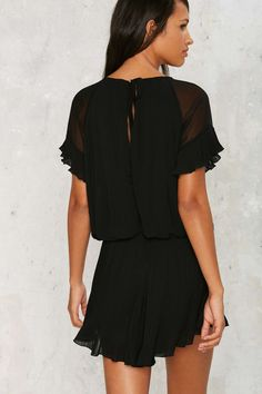 Turn Up the Pleat Ruffle Romper | Shop Clothes at Nasty Gal!