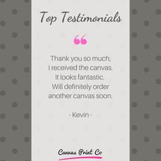"""Top Testimonials from our happy customers ❤️ """"Thank you so much, I received the canvas. It looks fantastic. Will definitely order another canvas soon. Framed Prints, Canvas Prints, Thank You So Much, Wood Print, Happy, Top, Beautiful, Photo Canvas Prints, Ser Feliz"""