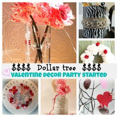 Dollar Tree Valentines Decor Decorating Valentine Day Cupcakes Party Crafts