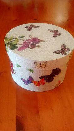 Caja de madera -  (craquelado y decoupage)