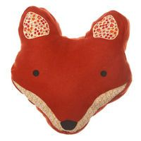 Fox Head Cushion With Pad Gorgeous Quirky Gift House Home Wares Woodland Brown