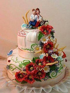Ukrainian wedding cake