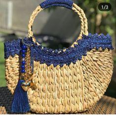 Diy Handbag, Diy Purse, Diy Bag Crafts, Basket Bag, Handmade Bags, Straw Bag, Purses And Bags, Tote Bag, Style