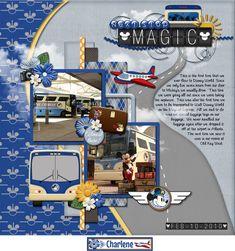 Disney Scrapbook Pages, Scrapbooking Ideas, Scrapbook Layouts, Disney Magical Express, Happy Birthday Michelle, Rainforest Cafe, Photo Scavenger Hunt, Disney Artwork, Walt Disney Company