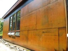 Metal was allowed to rust and then sealed with Everbrite Satin.
