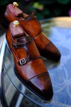 "dandyshoecare: "" If you have a natural leather pair of shoes of a neutral or very light color - we can create for you the beautiful and unique Patina. Only Dandy Shoe Care is able to create the shades..."
