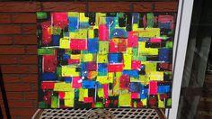 Acrylbild / Leinwand NEON Gr. 50 x 70 cm 100% HANDARBEIT