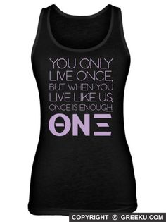 Theta Nu Xi Only Live Once Poly-Cotton Unisex Tank Top