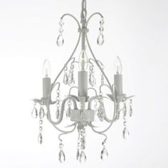 Gallery Versailles White 3-Light Mini-Chandelier