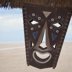 Framed Art Photo Tropical Mask on the Beach in Rimini, Italy.  Adriatic Sea Photos.  Laughter is the best medicine!