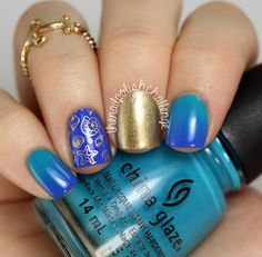 the nail polish challenge: MoYou London Sailor Stamping Skittlette