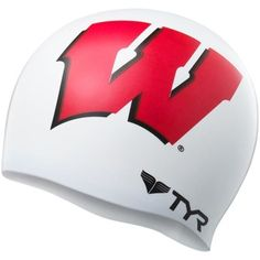 Wisconsin Badgers Silicone Graphic Swim Cap –