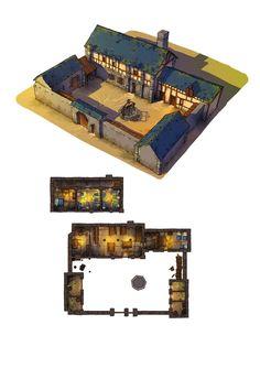 Little house designed by sean andrew murray modeled in for 3d fachwerk