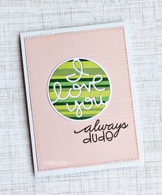 I Love You Always Dude card by Jill Dewey Hawkins - Paper Smooches - I Love You die and Word Salad.