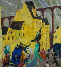 Lyonel Feininger - Carnival in Arcueil (1911)