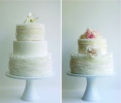 Wedding Cake.  2 Tier or 3 Tier Round.  Layered.  Nice and simple.