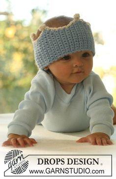 """Free pattern: Crochet DROPS crown head band in """"Alpaca"""". ~ DROPS Design"""
