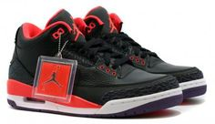 NIKE AIR JORDAN 3 RETRO BLACK/BRIGHT CRIMSON-CANYON PURPLE-PURE VIOLET #sneaker
